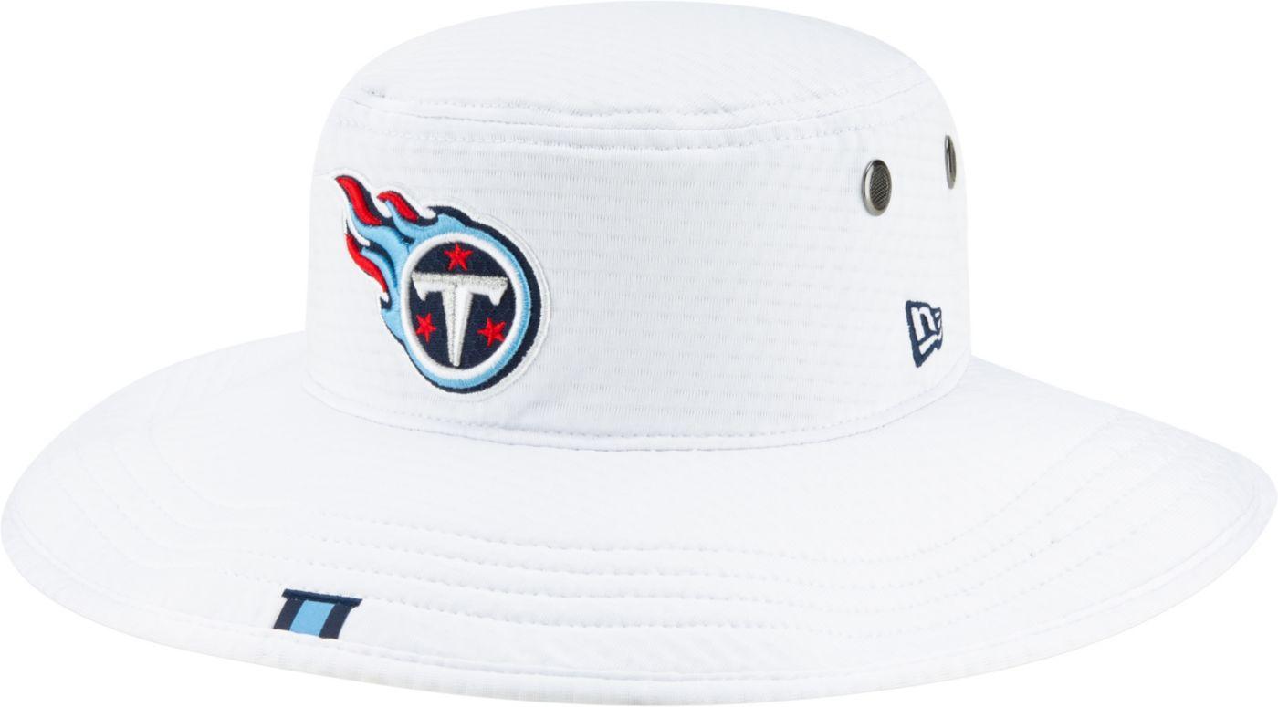 New Era Men's Tennessee Titans Sideline Training Camp Panama White Bucket Hat