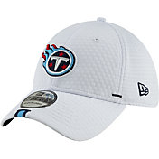 New Era Men's Tennessee Titans Sideline Training Camp 39Thirty Stretch Fit White Hat