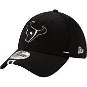 New Era Men's Houston Texans Sideline Training Camp 39Thirty Stretch Fit Black Hat