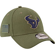 New Era Men's Salute to Service Houston Texans 39Thirty Olive Stretch Fit Hat