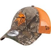 New Era Men s Minnesota Vikings Real Tree 9Forty Orange Camo Adjustable Trucker  Hat c24076bac4b