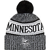 New Era Men's Minnesota Vikings Sideline Cold Weather Reverse Black Sport Knit