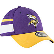 New Era Men's Minnesota Vikings Sideline Home 39Thirty Purple Stretch Fit Hat