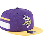 New Era Men's Minnesota Vikings Sideline Home 9Fifty Purple Adjustable Hat
