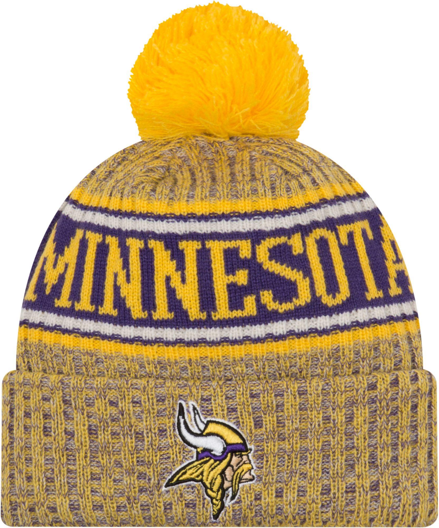 c3c54062 New Era Men's Minnesota Vikings Sideline Cold Weather Reverse Yellow Sport  Knit