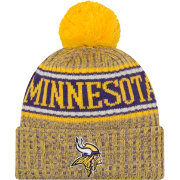 New Era Men's Minnesota Vikings Sideline Cold Weather Reverse Yellow Sport Knit