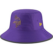 New Era Men's Minnesota Vikings Sideline Training Camp Purple Bucket Hat