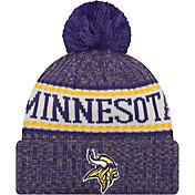 New Era Men's Minnesota Vikings Sideline Cold Weather Purple Sport Knit
