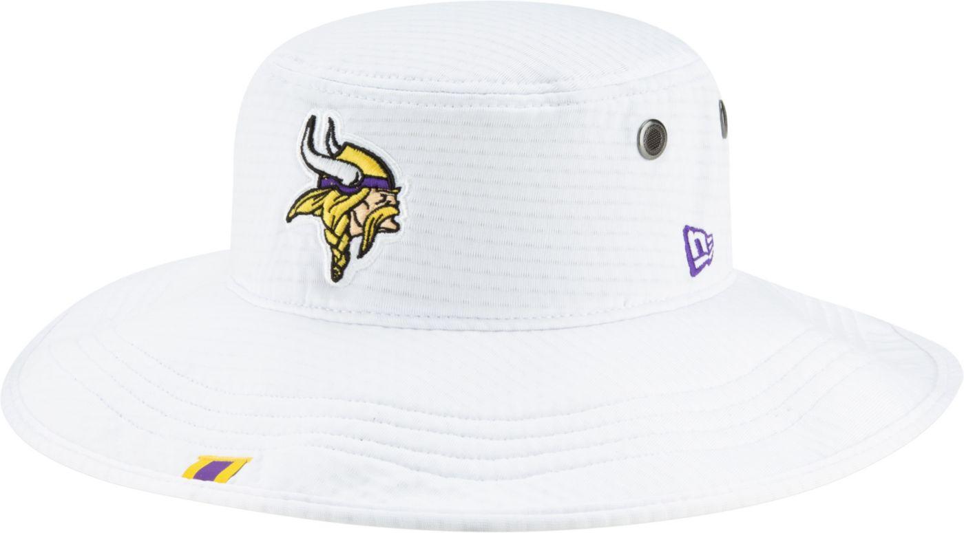 New Era Men's Minnesota Vikings Sideline Training Camp Panama White Bucket Hat