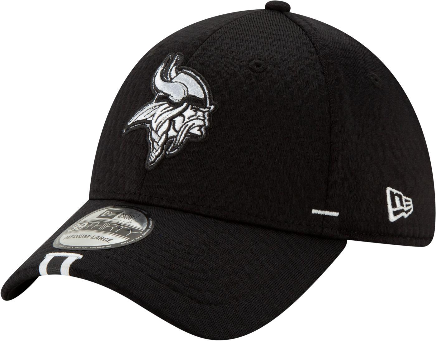 New Era Men's Minnesota Vikings Sideline Training Camp 39Thirty Stretch Fit Black Hat