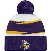 New Era Men's Minnesota Vikings Thanksgiving Purple Pom Knit