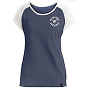 New Era Women's Milwaukee Brewers Navy Scoop Neck T-Shirt