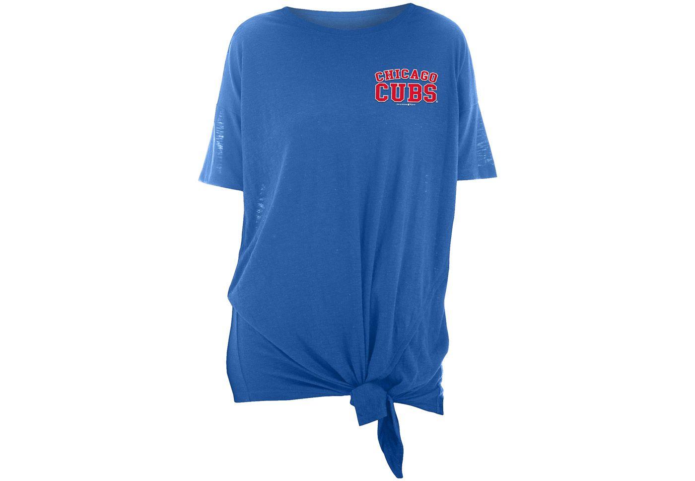 New Era Women's Chicago Cubs Side Tie Shirt