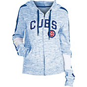 New Era Women's Chicago Cubs Space Dyed Full-Zip Hoodie