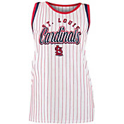 New Era Women's St. Louis Cardinals Pinstripe Tri-Blend Tank