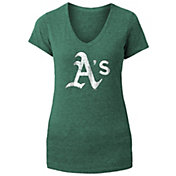 New Era Women's Oakland Athletics Tri-Blend V-Neck T-Shirt