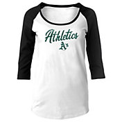 New Era Women's Oakland Athletics Three-Quarter Sleeve Shirt