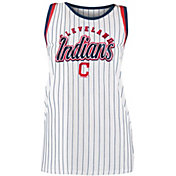 New Era Women's Cleveland Indians Pinstripe Tri-Blend Tank