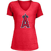 New Era Women's Los Angeles Angels Tri-Blend V-Neck T-Shirt