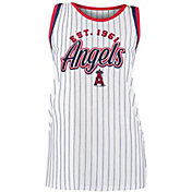 New Era Women's Los Angeles Angels Pinstripe Tri-Blend Tank