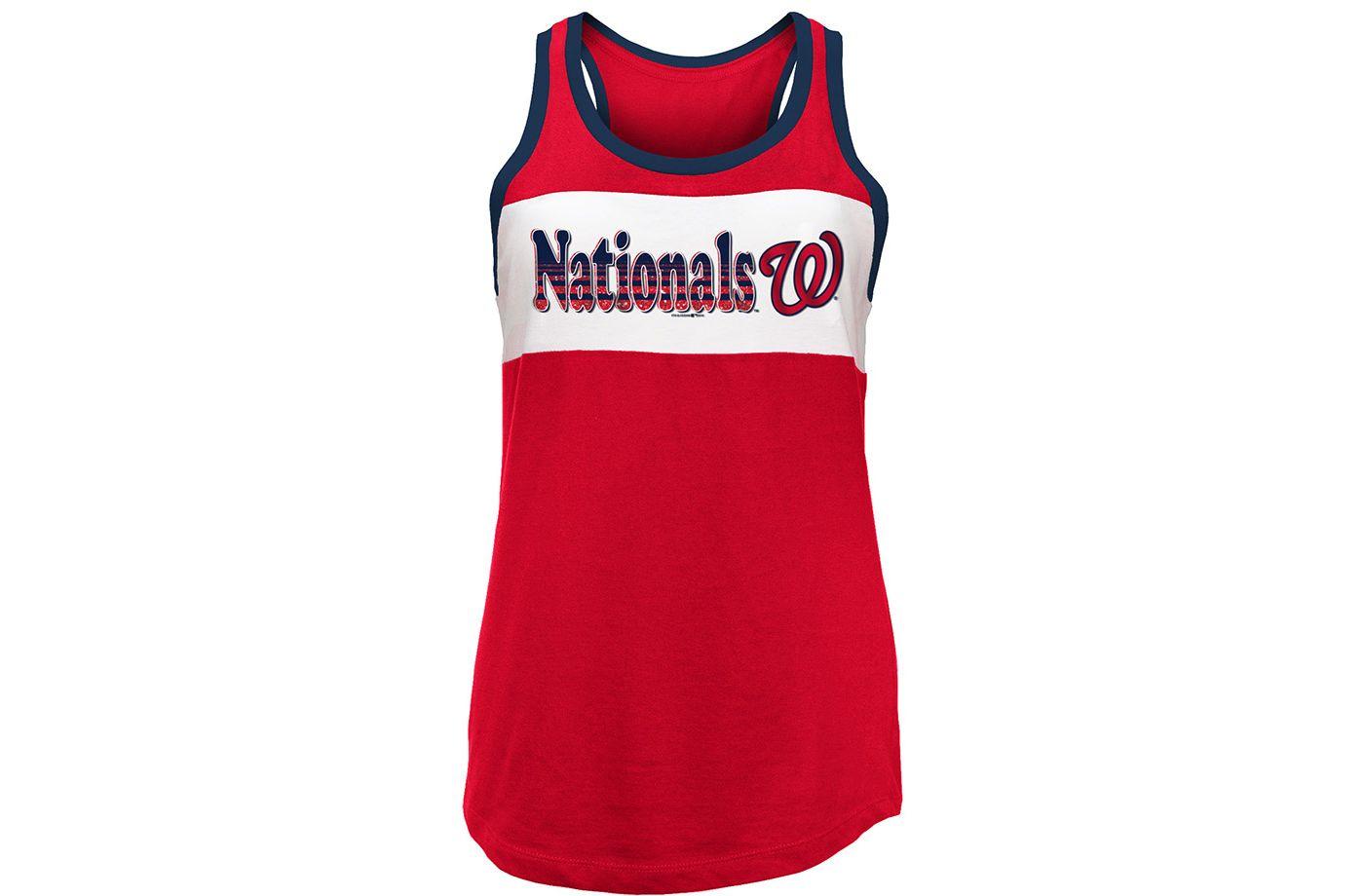 New Era Women's Washington Nationals Tri-Blend Tank