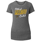 New Era Women's Pittsburgh Pirates Grey Tri-Blend T-Shirt