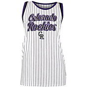 New Era Women's Colorado Rockies Pinstripe Tri-Blend Tank