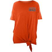 New Era Women's Baltimore Orioles Side Tie Shirt