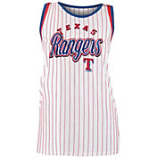 New Era Women's Texas Rangers Pinstripe Tri-Blend Tank