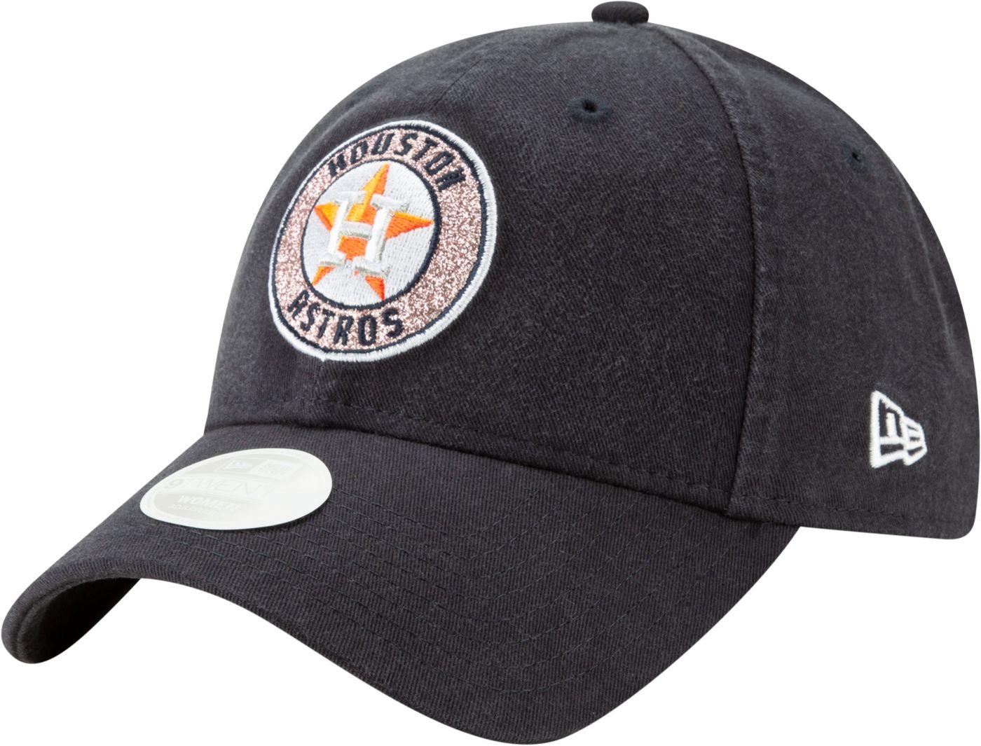 New Era Women's Houston Astros 9Twenty Patched Sparkle Adjustable Hat