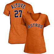 New Era Women's Houston Astros Tri-Blend V-Neck T-Shirt