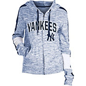 New Era Women's New York Yankees Space Dyed Full-Zip Hoodie