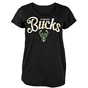 New Era Women's Milwaukee Bucks Scoop Neck T-Shirt