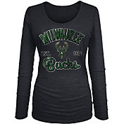 New Era Women's Milwaukee Bucks Tri-Blend Long Sleeve Shirt