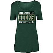 New Era Women's Milwaukee Bucks V-Neck T-Shirt