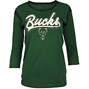 New Era Women's Milwaukee Bucks Three-Quarter Sleeve Shirt