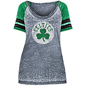 New Era Women's Boston Celtics Burnout Scoop Neck T-Shirt