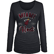 New Era Women's Miami Heat Tri-Blend Long Sleeve Shirt