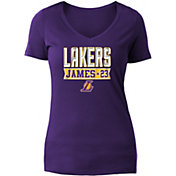 New Era Women's Los Angeles Lakers LeBron James Tri-Blend V-Neck T-Shirt