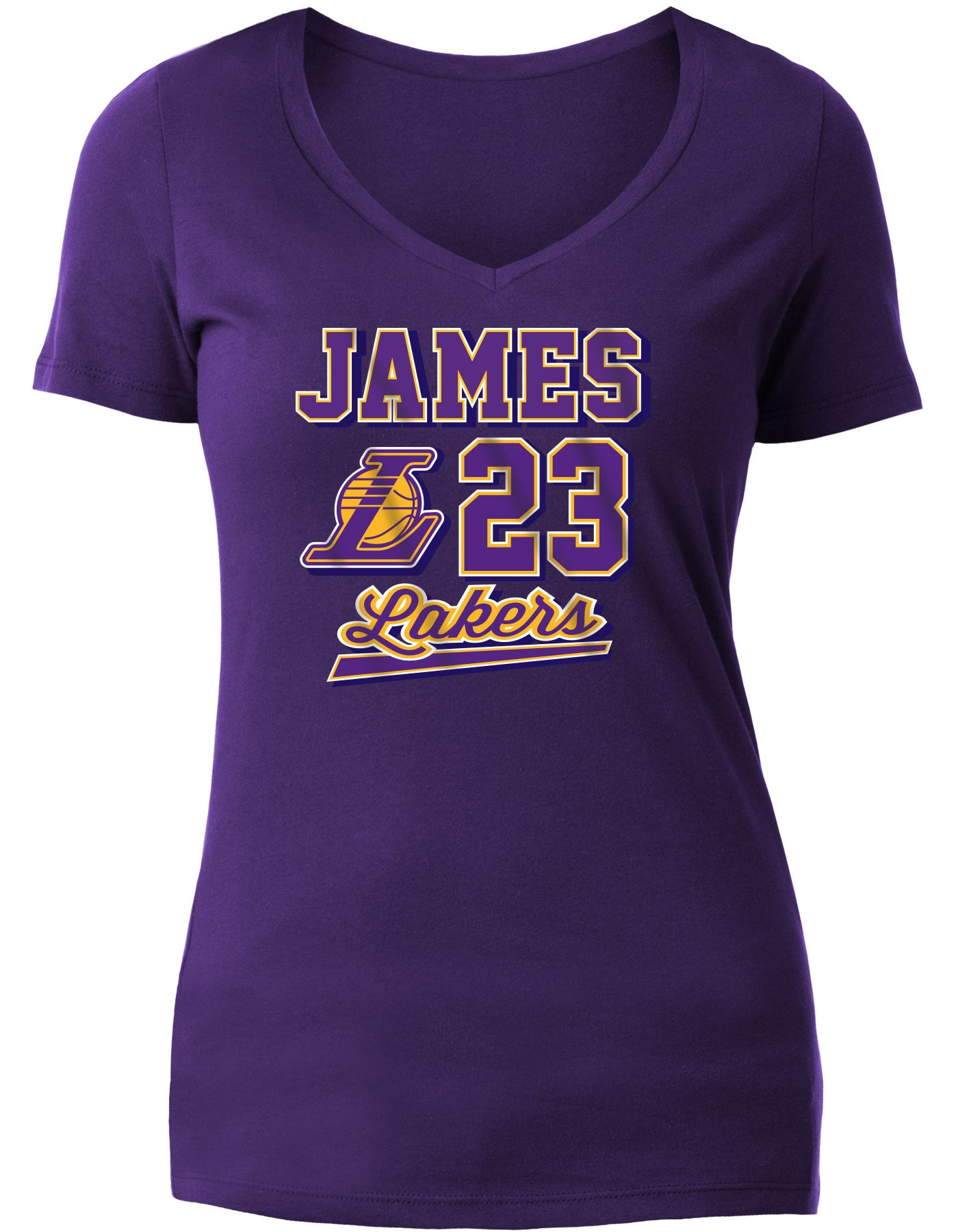 New Era Women's Los Angeles Lakers LeBron James Tri-Blend V-Neck T-Shirt