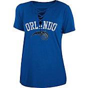 New Era Women's Orlando Magic Lace-Up V-Neck T-Shirt