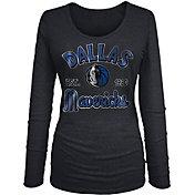 New Era Women's Dallas Mavericks Tri-Blend Long Sleeve Shirt