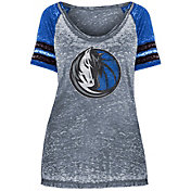 New Era Women's Dallas Mavericks Burnout Scoop Neck T-Shirt