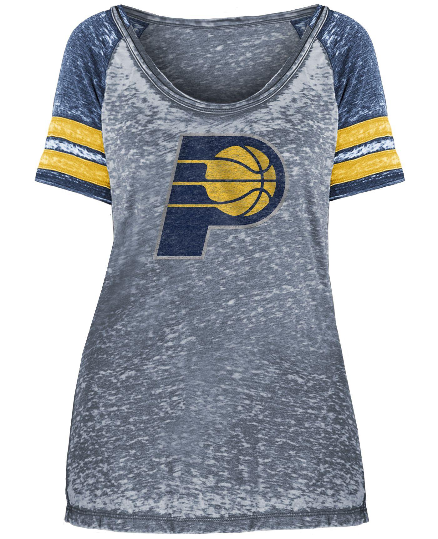 New Era Women's Indiana Pacers Burnout Scoop Neck T-Shirt