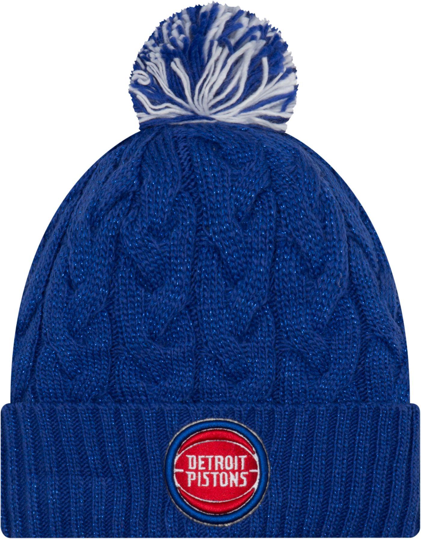 New Era Women's Detroit Pistons Cozy Knit Hat