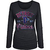 New Era Women's Detroit Pistons Tri-Blend Long Sleeve Shirt