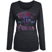 New Era Women's Detroit Pistons Tri-Blend Long Sleeve Shirt