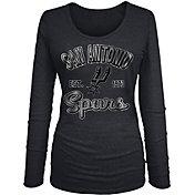 New Era Women's San Antonio Spurs Tri-Blend Long Sleeve Shirt