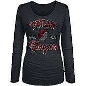 New Era Women's Portland Trail Blazers Tri-Blend Long Sleeve Shirt