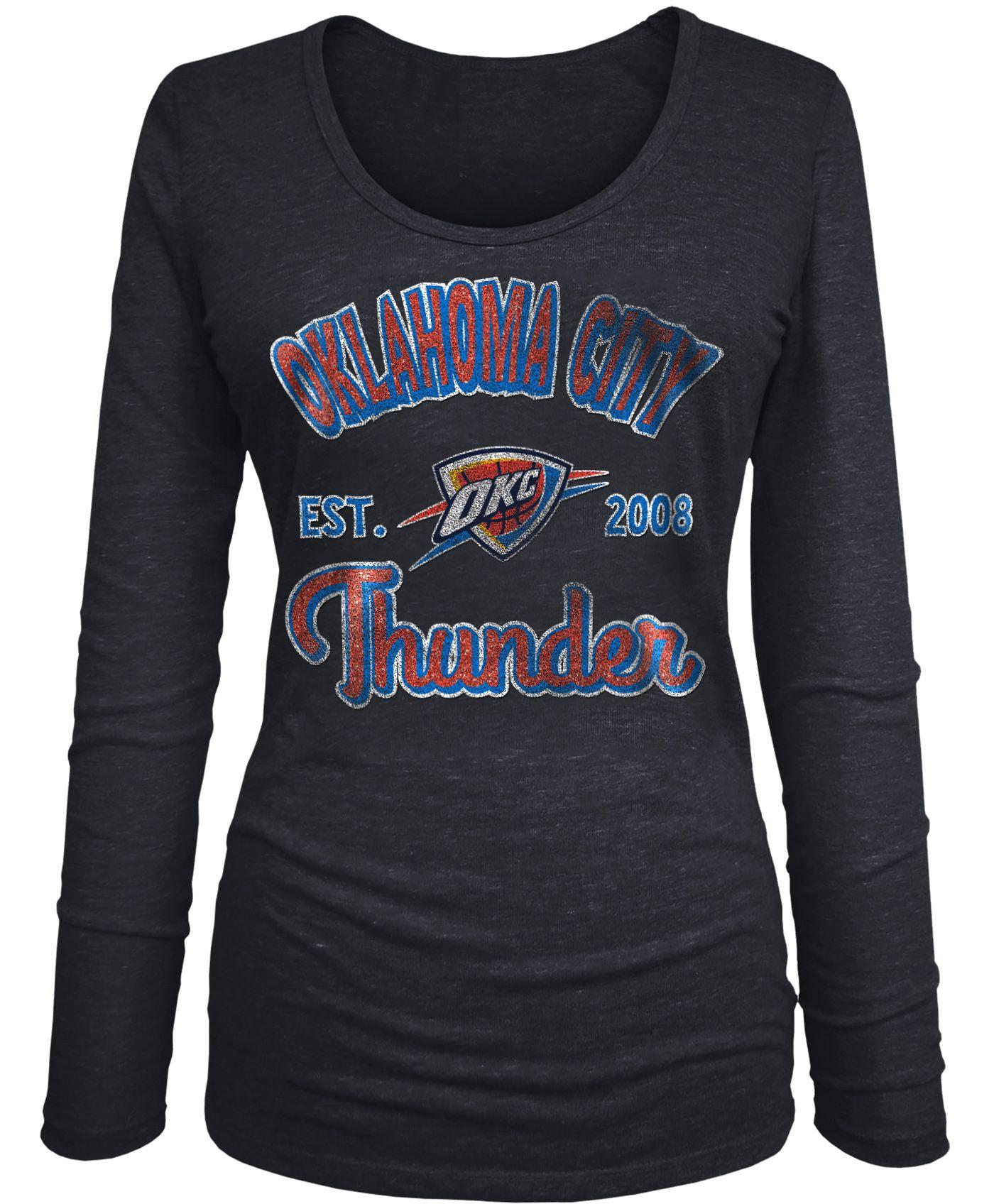 New Era Women's Oklahoma City Thunder Tri-Blend Long Sleeve Shirt